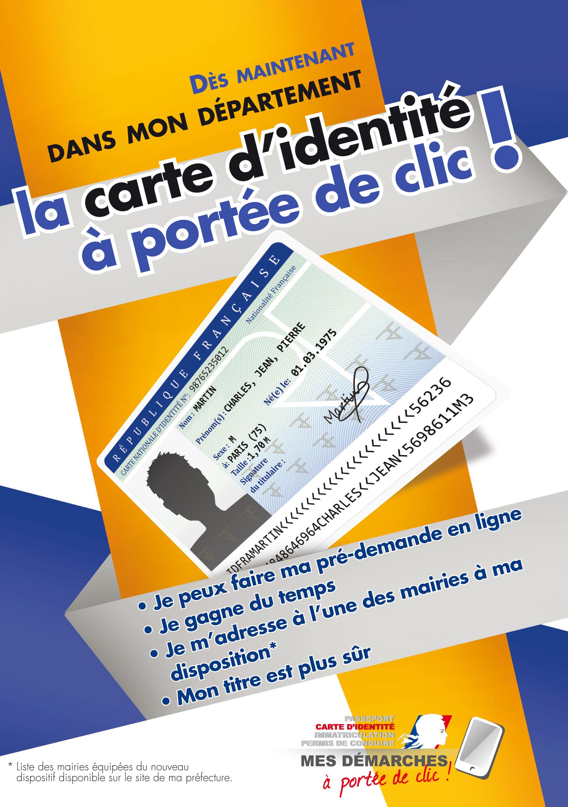 La Procedure De Premiere Demande Et Renouvellement Carte Nationale Didentite Evolue Dans Le Cadre Du Plan Prefecture Nouvelle Generation