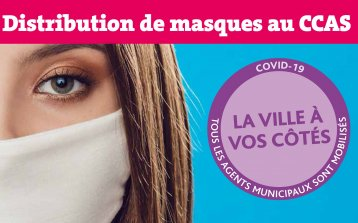 Distribution de masques au CCAS Dispositif municipal